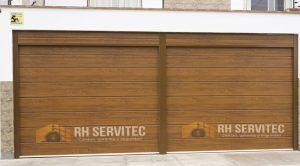 Puerta seccional a control remoto RH SERVITEC