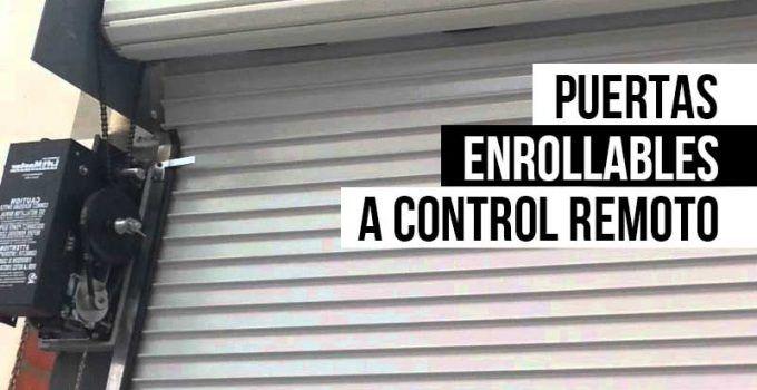 Puertas enrollables a control remoto