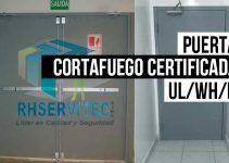Puertas cortafuego certificada WHI/FM/UL/RF/180